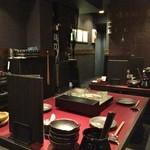 博多地鶏ともつ鍋専門店 三日月 - 店内(2階)♪