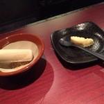 博多地鶏ともつ鍋専門店 三日月 - お鍋用の薬味♪