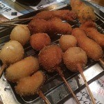 串かつ ようこそ - 上串盛りの一部(1480円)