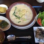 地産地消・美と健康 ルミエール - 里芋と九条ねぎの西京みそグラタン(¥900)