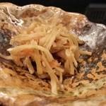 逸旬 - ごぼうのきんぴら(蕎麦の定食)