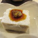 蕎麦切り かんべえ - そばどうふ。少しザラっとしたネットリ感が美味しいです。