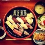 寿司処 博 - にぎりのテンゴ1700円+だし巻玉子100円