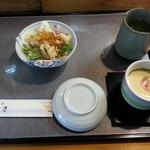 34834739 - ランチにはサラダ、茶碗蒸し、味噌汁がつきます