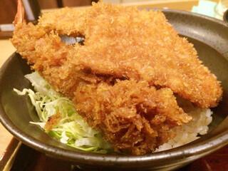 新潟カツ丼 タレカツ 本店 - 合いもり丼 セット 840円