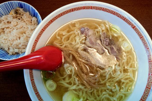 中華そば 嘉一 - Cセット(中華そば+あさりご飯):800円