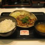 吉野家 - 【終売】「ロース豚焼き定食/十勝仕立て」です。