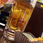 ぶぶか - 生ビール、メンマがお通し