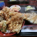 栄家 - 天丼 全貌 これが750円