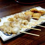 円 - 料理写真:鶏明太子串、美人串