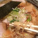 かいらぎ 二代目 - 太麺をチョイス。