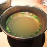 鳥焼 笹や - 鶏スープ
