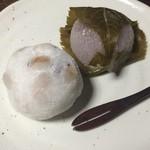 葵餅本店 - 福豆大福とさくら餅