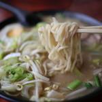 麺屋秀吉 - 麺~(とんこつ野菜ラーメン)