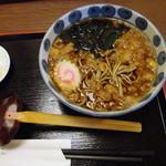 新勝庵 - たぬきそば600円