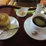 CAFE DROME - プリンそこがみそセット 900円(税込)