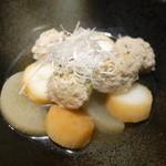 かこも - 長芋のオランダ煮とつみれの炊き合わせ