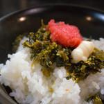 山中製麺所 - ランチセットの明太高菜飯(+200円)