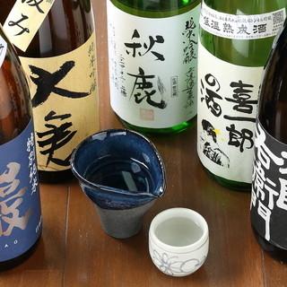 旬の日本酒20種以上!!ドイツビールもあります♪