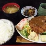 なにわ亭 - ミンチカツ定食750円♪
