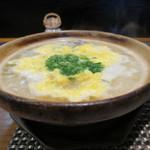 34860377 - 丸雑炊(鍋わいてます!)