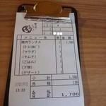 すきやきしゃぶしゃぶ 神戸牛石田 - 焼肉ランチA1706円税込み