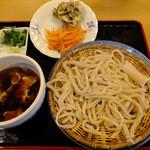 田舍屋 - 肉汁うどん、天ぷら