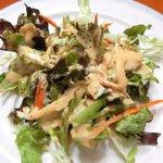 エコ ロロニョン - <'15/02/03撮影>トロピカルローストチキン 500円 のサラダ