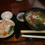 34867918 - 肉うどん定食800円