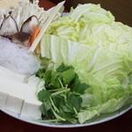 吉井十八 - かもすき焼き(2人前)のお野菜セット