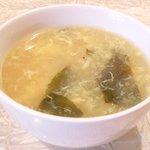 孔子膳堂 - 【'15/02/04撮影】プレミアムランチセット 1000円 の玉子スープ