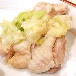 孔子膳堂 - 【'15/02/04撮影】プレミアムランチセット 1000円 の鶏肉蒸し煮