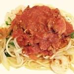 ピッコロ - あさりトマトスパゲッティ(そんな感じの名前)