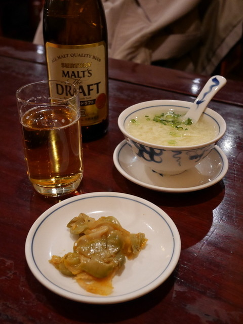 陳麻婆豆腐 クイーンズスクエア店 - ザーサイとスープ