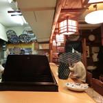 吉位寿司 - カウンター席より。