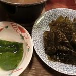 吉位寿司 - 「ひろめ」煮てからと、煮る前と。。。