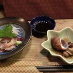 吉位寿司 - 海鼠の「お刺身」。酢のものじゃないよ。