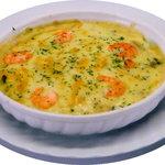 ピコピコ - ホワイトソースのドリアです。ご飯はもちろん仁多米を使用しています。リピーターの多いメニューです