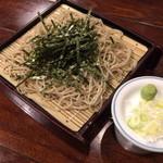蕎麦処 朝日屋 - タイムサービス(990円)のザル蕎麦。2015年1月