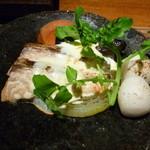 34886745 - 鮭と里芋の鉄板焼き