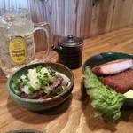 原始ろばた焼 ホワイトハウス - 牛タン&厚切りハムカツ
