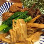 SOUL麺 - 別皿の具