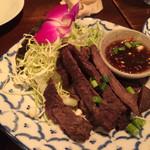 バンコクガーデン - これは、タイ風ローストビーフ!チリをつけなくても味が染み込んでます!