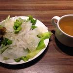 34889219 - サラダとスープ