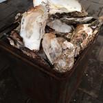 かき小屋 - 料理写真:牡蠣食べ放題(残骸)