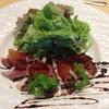 ビストロミモザ - 料理写真:仏産バルバリー鴨の自家製生ハム バルサミコソース