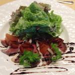 ビストロミモザ - 仏産バルバリー鴨の自家製生ハム バルサミコソース