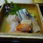 すずき - 青森のヒラメと縁側、閖上の赤貝、愛知のミル貝、さより