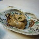 すずき - 煮牡蠣と煮はまぐり