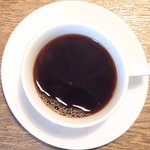 ビステッカ - <'15/02/07撮影>ハラミの炭火焼きと名物ラザニアのセット 1000円 のコーヒー